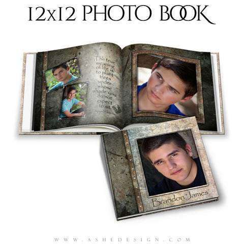 Photo Book Template 12x12 | Granite cover
