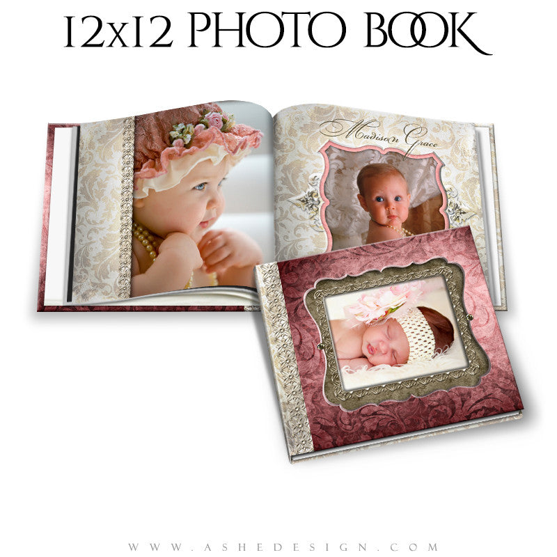 Photo Book Template 12x12 | Madison Grace cover