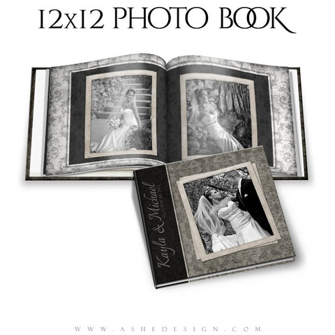 Photo Book Templates 12x12 | Timeless open book