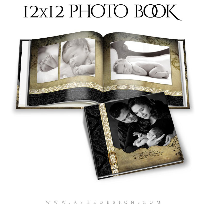 Photo Book Templates 12x12 | Rejoice open book