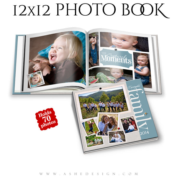 Photo Book Templates 12x12 | Family Time cover