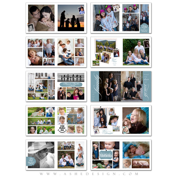 Photo Book Templates 12x12 | Family Time pages