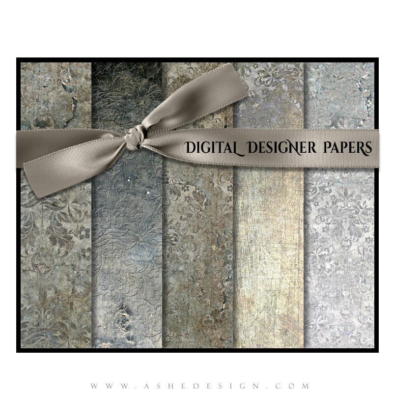 Digital Papers | Steel Damask set