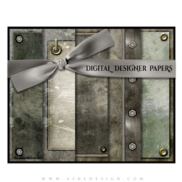 Digital Designer Papers | Riveted full set