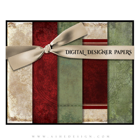 Vintage Holiday papers full set