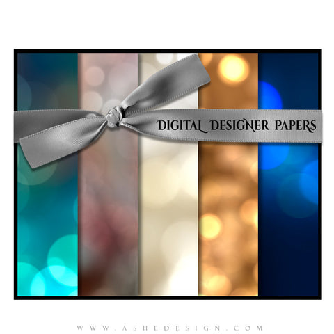 Digital Designer Papers | Bokeh Spectrum set