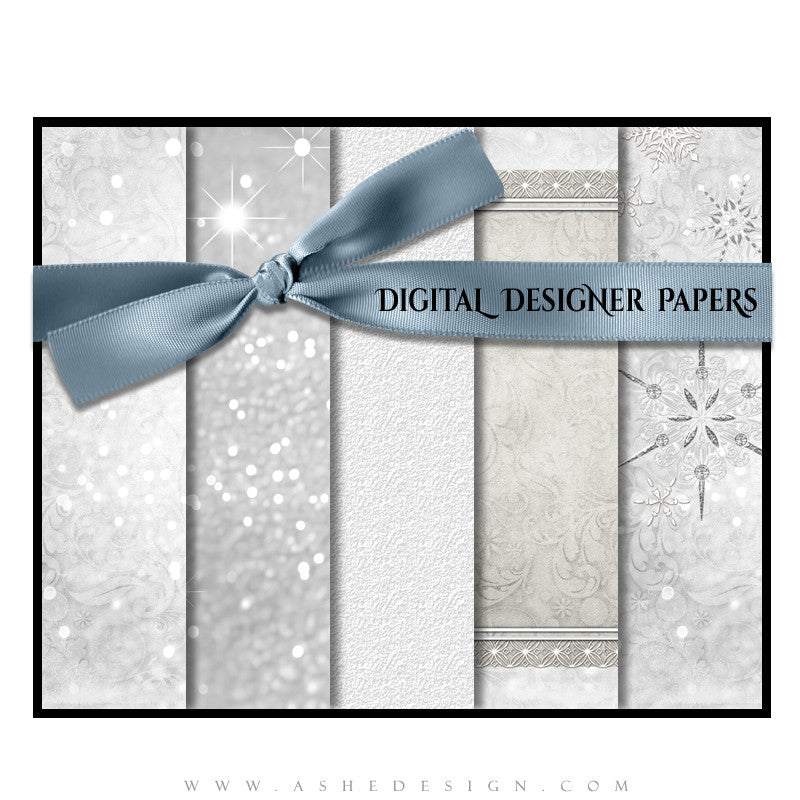 Snow Babies Digital Papers Full Set web display