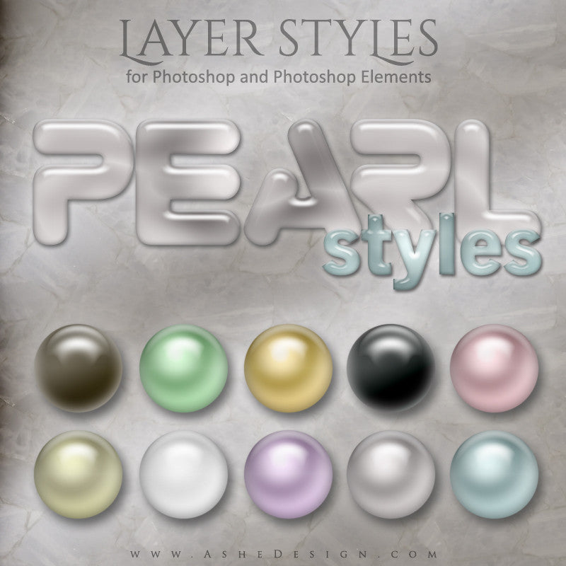 Photoshop Styles | Pearl