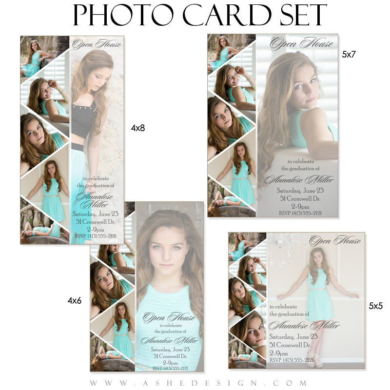 Pennant - Photo Cards Graduation Templates for Photographers