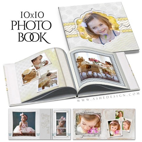 Family Photo Book (10x10) - Classic Chevron