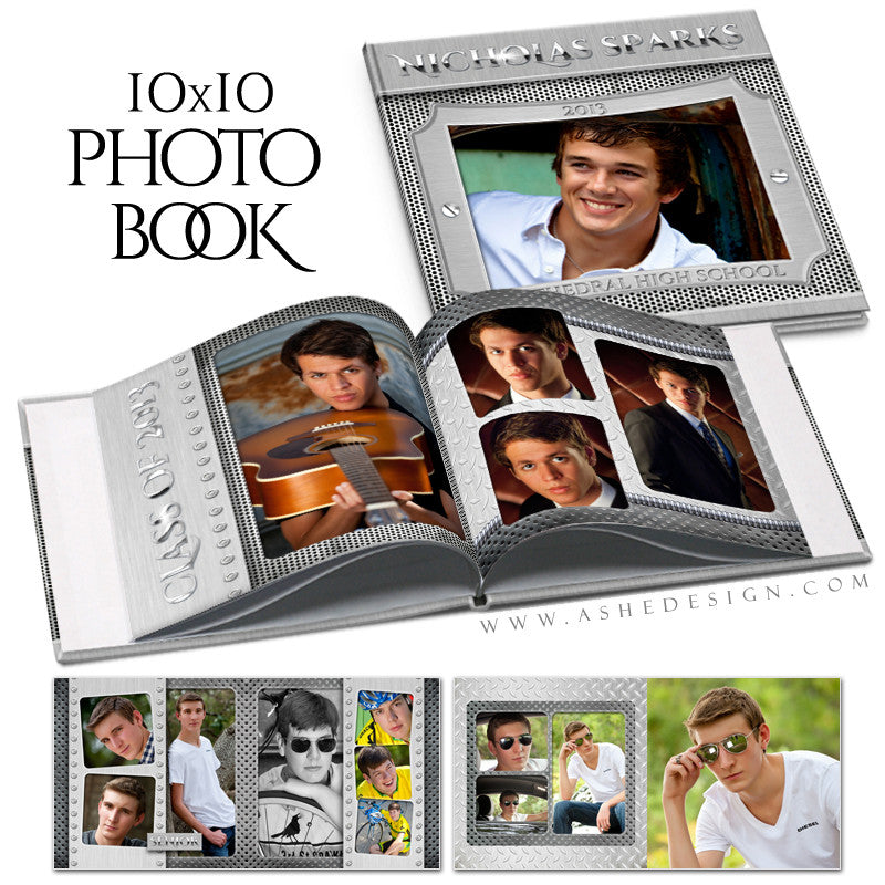 Steel Mate | 10x10 Photo Book open book