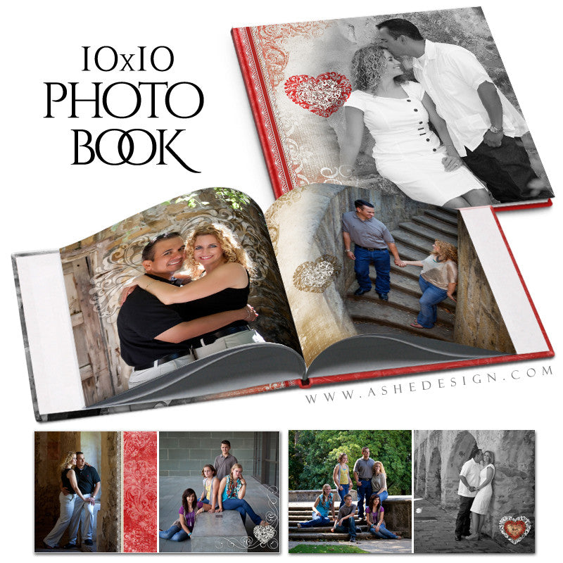 Ashe Design | Amour 10x10 Photo  Book open book web display