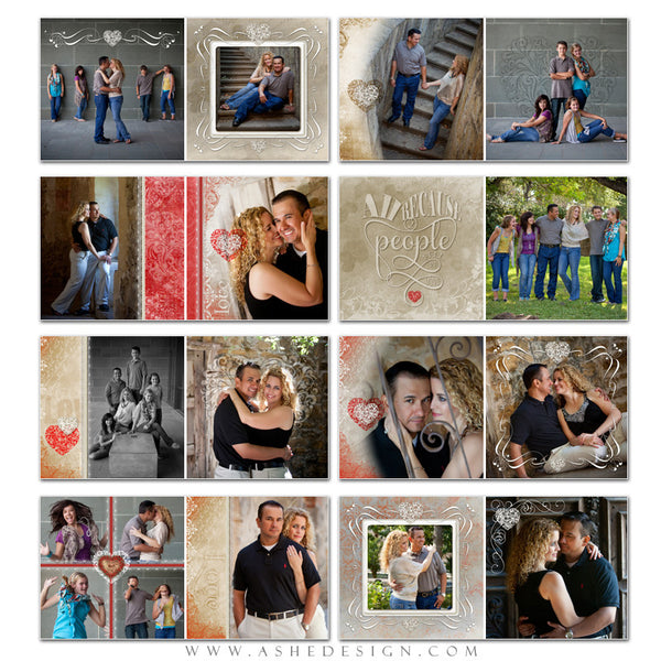 Photo Book 12x12 Template | Amour pages