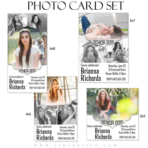 Senior Girl Graduation Photo Cards | Gabriella