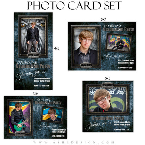 Senior Boy Graduation Photo Cards | Wrought Iron