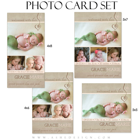 Photo Card Birth Announcements | Gracie Marie