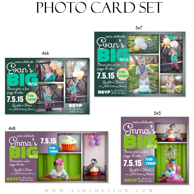 First Birthday Photo Card Set | The Big One