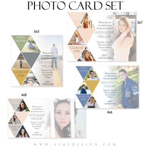 Senior Graduation Photo Cards | Symmetry