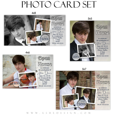 Hot Shots - Photo Card Graduation Templates for Photographers