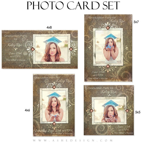 Photo Card Template Set | Scrap Metal
