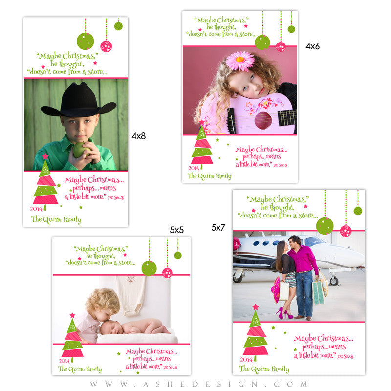Christmas Photo Card Templates | Whimsical Christmas
