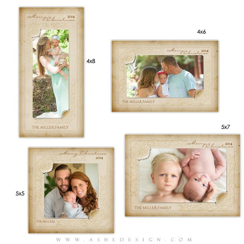 Christmas Photo Card Templates | Yesteryear