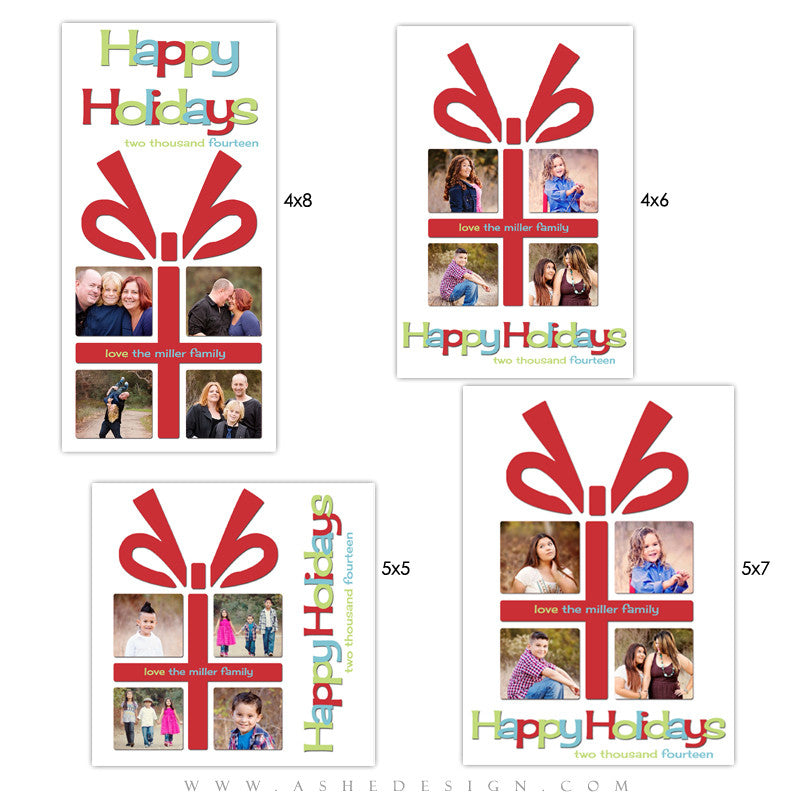 Christmas Photo Card Templates | The Gift