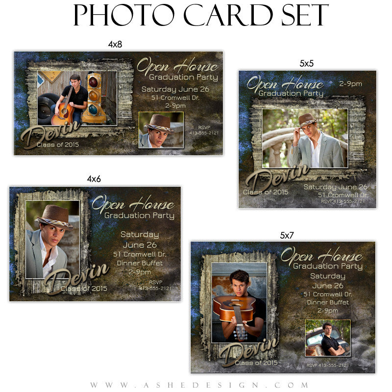 Photo Card Graduation Invitations | Devin Patrick