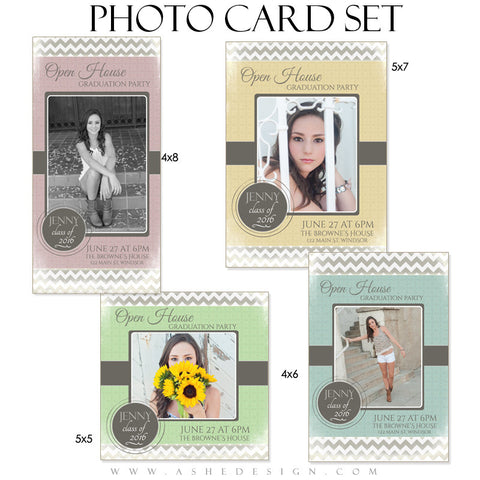 Senior Girl Graduation Photo Cards | Modern Simplicity