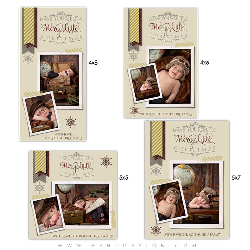 Christmas Photo Card Templates | Merry Little Christmas