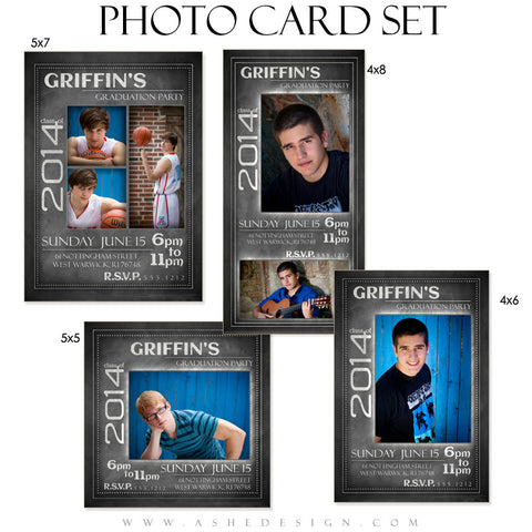 Chalkboard Senior Boy 2014 Photo Cards full set web display