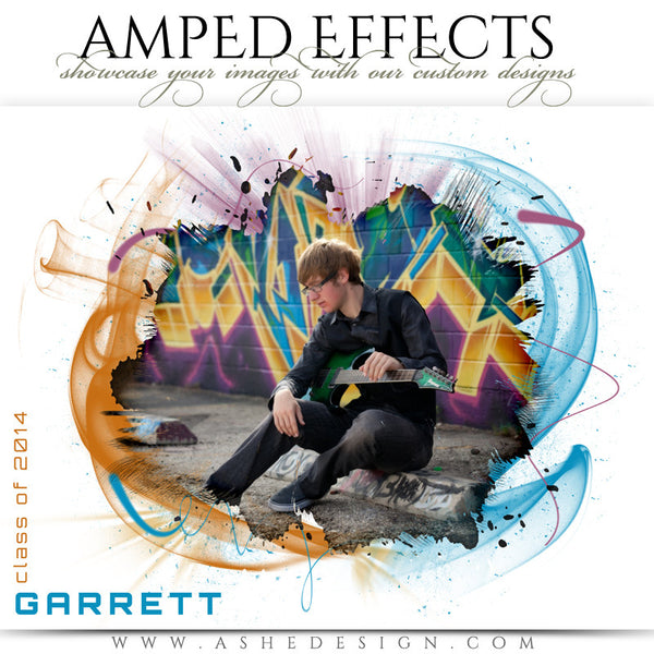 Ashe Design | Amped Effect | Color Vortex Senior Template