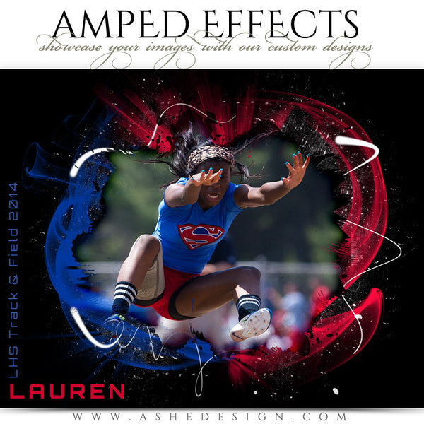 Ashe Design | Amped Effect | Color Vortex Sports Template