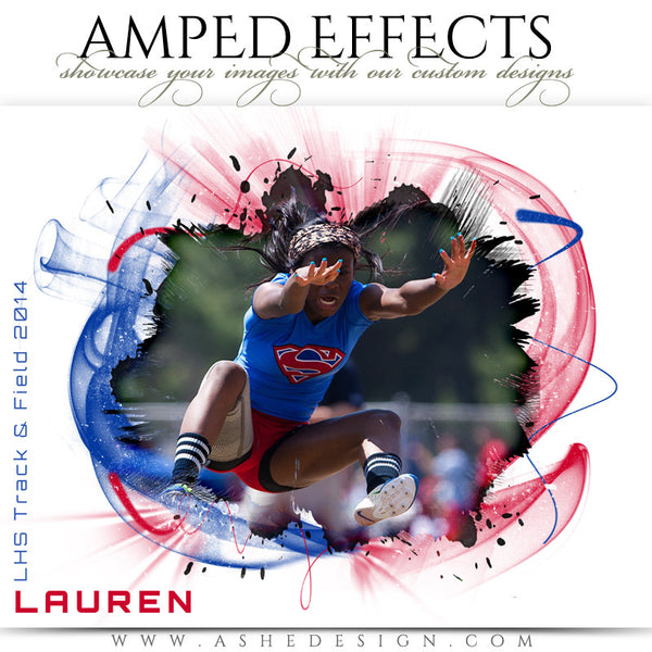 Ashe Design | Amped Effect | Color Vortex Sports Photography Template
