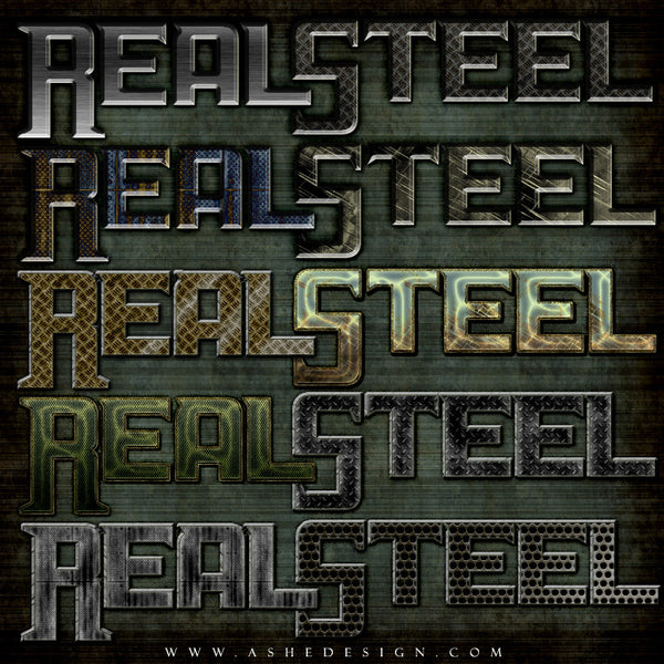Ashe Design | Photoshop Styles | Real Steel examples