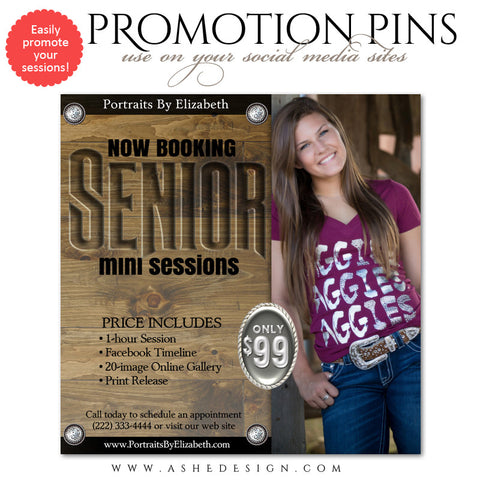 Ashe Design | Timeline Promotional Pin | Western Senior