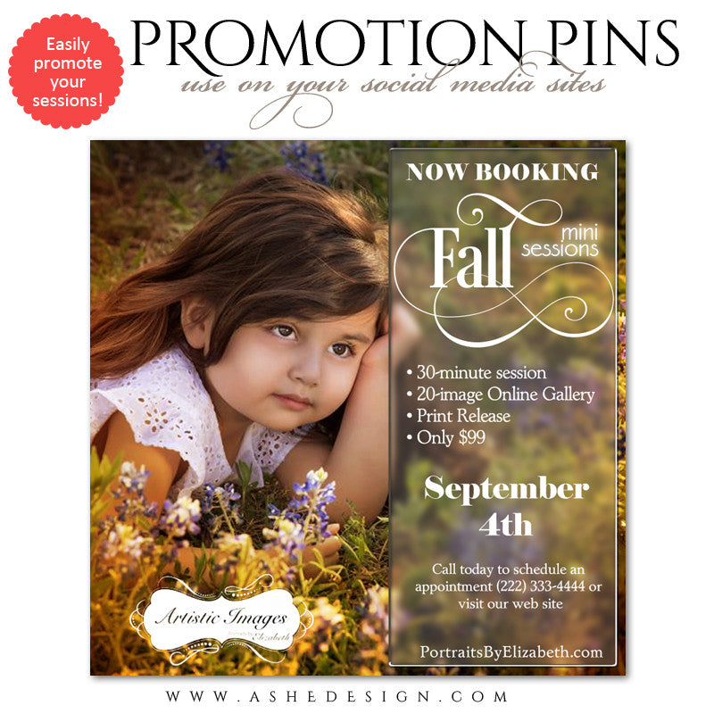 Timeline Promotional Pin | Fall Sessions