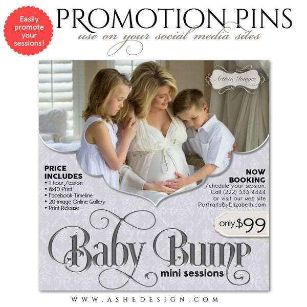 Timeline Promotional Pin | Baby Bump