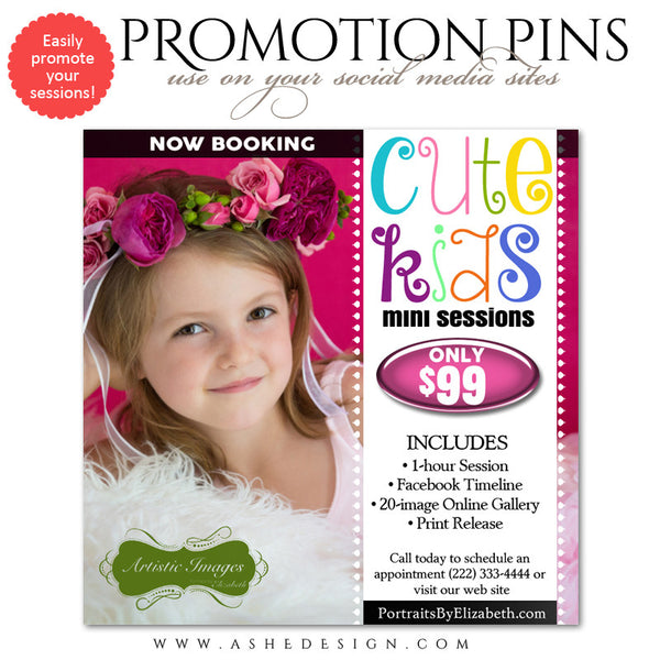 Cute Kids Timeline Promotional Pin