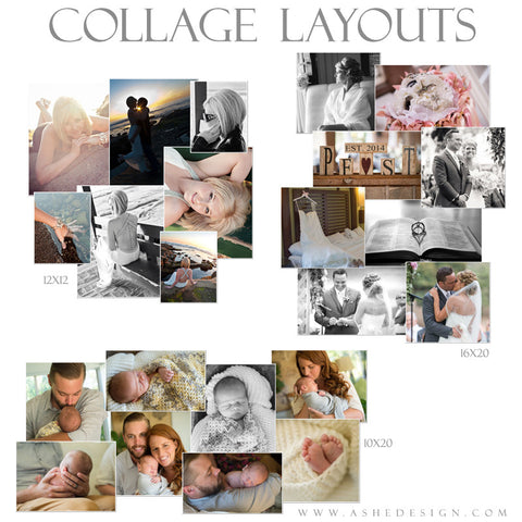 Photoshop Collage Layouts | Simply Stated Scattered