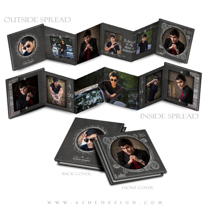 Chalkboard Senior Boy 3x3 Mini template