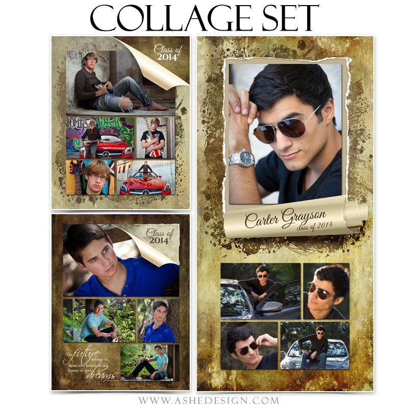 Ripped Collage Set (8x10, 11x14,10x20)  web display