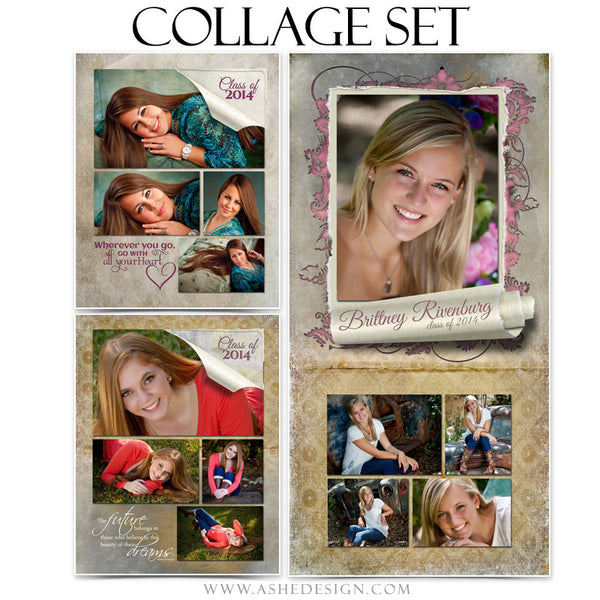 Scrolled Collage Set (8x10, 11x14, 10x20) web display