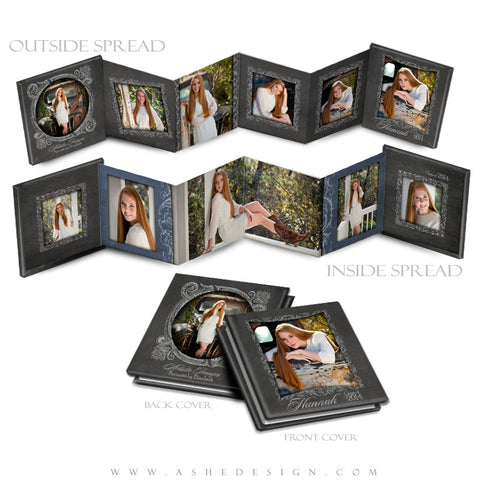 Chalkboard Senior Girl - 3x3 Mini template