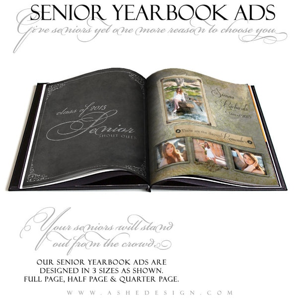 Senior Yearbook Ads for Photoshop | Days To Remember open book