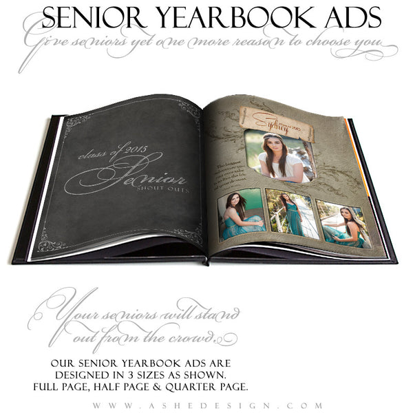 Senior Yearbook Ads for Photoshop | Dolce open book