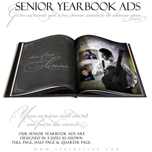 Senior Yearbook Ads for Photoshop | Raise The Bar open book