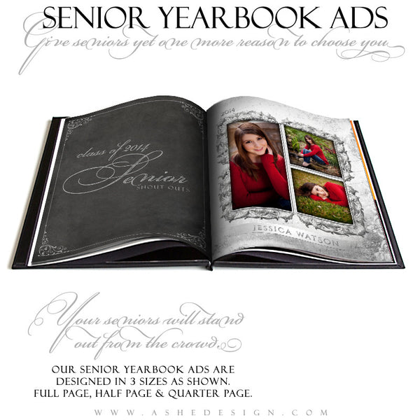 Softly Spoken - Yearbook Ad Designs for Photographers