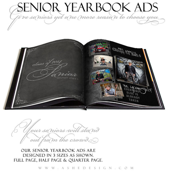Black Leather YB Ads open book web display