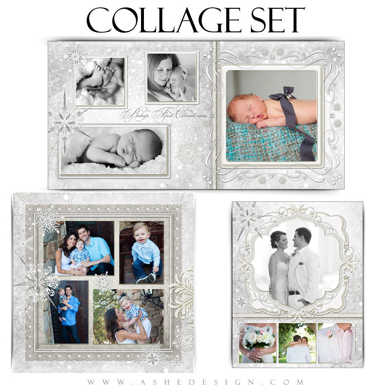 Snow Babies Collage Set 10x20,11x14,12x12 web display